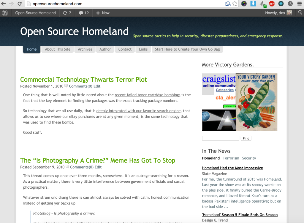 Open Source Homealnd