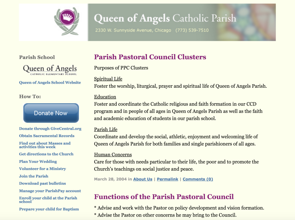 Queen of Angels Pastoral Council